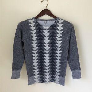J.crew Women's Gray Triangle Arrow Sweatshirt XXS